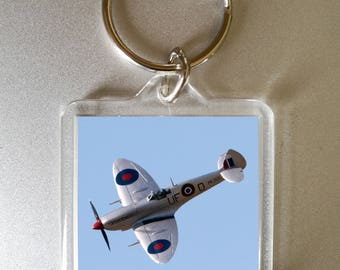 spitfire keyring - photo gift - spitfire - custom photo gift - secret santa - spitfire keychain - plane keyring - fathers day gift