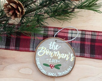 Family Ornament | Personalized Ornament | Christmas Decor | Christmas Gift | Tree Cookies