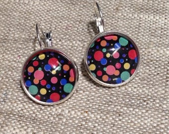 Earrings cabochon 16mm - Stud Earrings