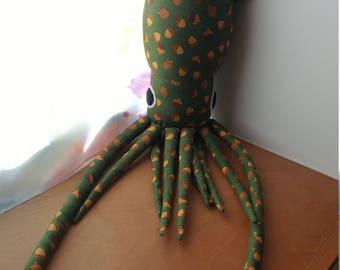 Fall Acorn Squid Plush