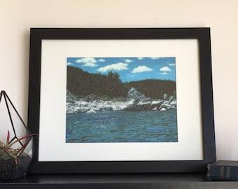 Lake tahoe print, Giclee landscape print, Tahoe wall art, Lake tahoe art, Fine art print, Lake house décor, Lake tahoe décor, Wall art print