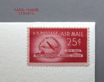 Universal Postal Union Air Mail || Set of 10 unused vintage postage stamps
