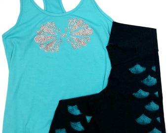 Mermaid Shell Shirt - Mermaid Shirt - Mermaid Tank Top - Mermaid Clothing - Mermaid Gift - Mermaid Outfit - Mermaid Bra Shirt - Mermaid Top