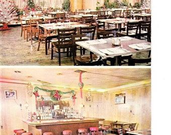 Vintage 60s York PA Pennsylvania Postcard Tremont Restaurant and Cocktail Lounge Real Photo Travel Souvenir Unposted