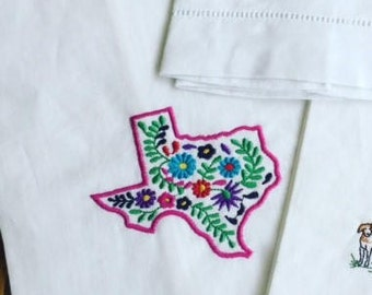 Qaxacan Inspired Embroidered Guest Towels