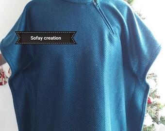 Turquoise poncho
