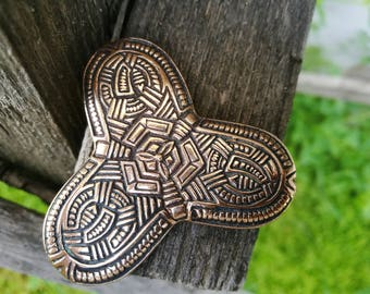 Viking brooch, Trefoil Brooch, Fibula viking, Viking jewelry, Viking Age, SCA jewelry, Birka 10th century, Fibula replica, Medieval Jewelry