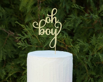 oh boy, Baby shower cake topper, Cake topper ,Baby shower,baby shower decorations, oh boy cake topper, pregnancy reveal decorations