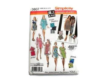 2000 Sewing Pattern - Simplicity 3807 - Mini Dress