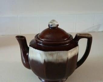 Unique Vintage Korean Teapot with Interlocking Lid