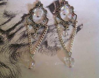 """Earrings """"Crystal rainbow"""""""