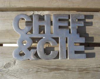 Dessous plat inox. Chef & Cie. Cuisine. Kitchen. Vintage. France