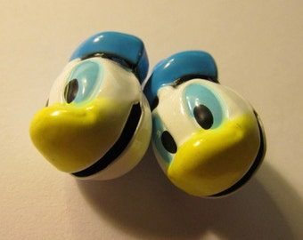 """Donald Duck Ringing Bell Charms, 7/8"""", Set of 2"""