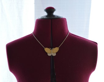 AVON Multi Tone Butterfly Necklace