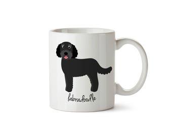 Labradoodle Mug (black)