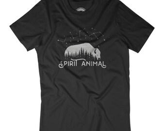 VINTAGE T-SHIRT Spirit animal shirt Constellation shirt Escape the city Wild spirit t-shirt Wild child Wilderness Hipster shirt APV386
