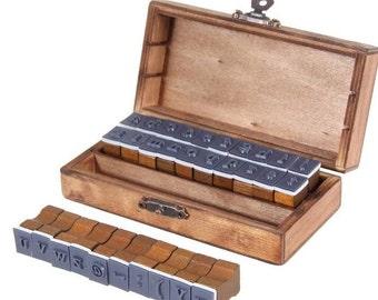 30 Pieces Vintage Alphabet Stamps