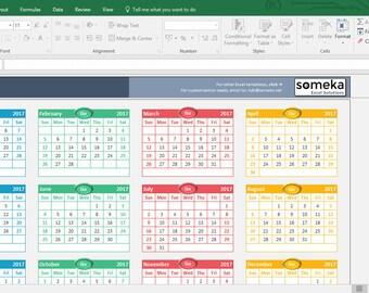 Excel Calendar Template 2021 - Printable Spreadsheet Calendar