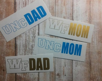 Grad School/College Mom/College Dad/Middle School Mom/College Parent/College Decal/School Decal/Yeti Cup Decal/University Decal