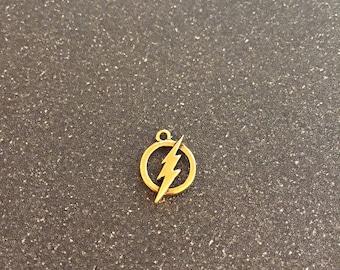 The Flash logo charm