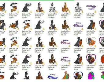 Disney's Lady and The Tramp Embroidery Design Set 2