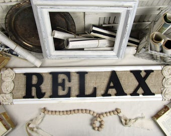 RELAX wood sign, rustic wall decor, country wall art, rustic bathroom wall decor, rustic wood sign, farmhouse bathroom sign, bathroom sign,