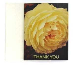Thank You Card, Floral Thank You Notes, Sympathy Thank You
