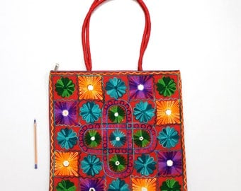 Handmade Ethnic Designer Tribal Banjara Patchwork Embroidered Hippy Fashionable Stylish Trendy Hippie Gypsy Boho Bohemian Shoulder Bag F348