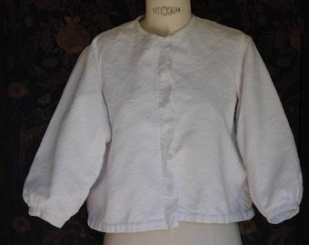 1950's white cotton pique jacket