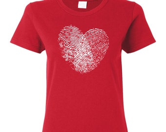 Fingerprint Heart T-SHIRT. Get this unique t-shirt today!