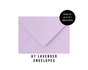 5x7 Lavender Envelopes