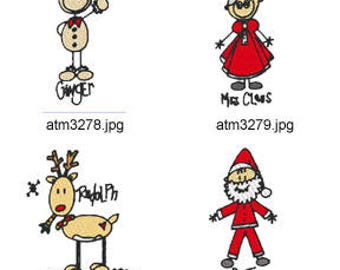 A-Kids-View-Christmas ( 7 Machine Embroidery Designs from ATW ) XYZ17M