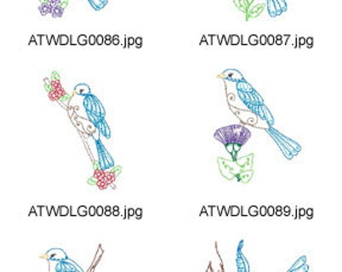 Bluebird-Multiline ( 10 Machine Embroidery Designs from ATW ) XYZ17F