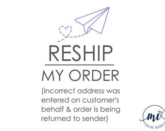 Reship My Order / MI Twin Lake Treasures  Order Add On