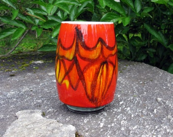 Mid Century / Poole Pottery Vase / Delphis Vase / Artist Signed Vase / No. 83 / 6'' / Modern / England / Studio Art / Collectible / Ceramic