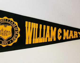William & Mary - Vintage Pennant