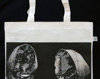 Slowakian Twins Collage Silkscreen Heavy Shopper Tote