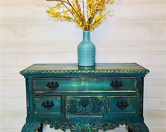 Hand Painted Buffet Side Server
