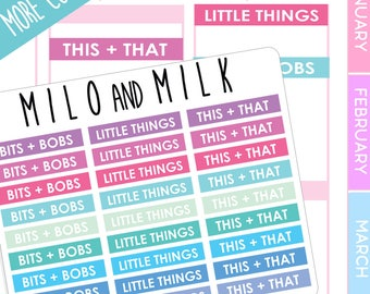 Bits and Bobs, Little Things, This and That Stickers | Planner Stickers | ECLP Compatiable