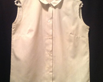 Vintage Ladies Blouse/ pale green