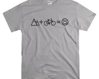 Mountain Bike Gift - T Shirt - Mountain Biking Tshirt for Men - Stocking Stuffer for Him