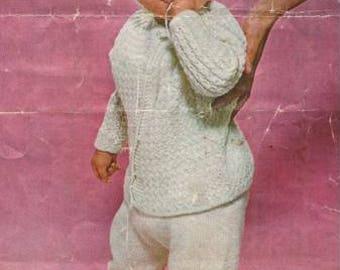 Babies Pramsuit Knitting Pattern, sizes Birth to 18 months pdf