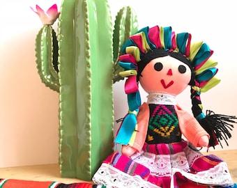 Mexican doll, Rag doll, Handmade doll, Cloth doll, Art doll, Authentic mexican doll, Maria doll