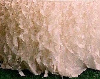 Ruffle Tablecloth, Curly Willow Tablecloth,