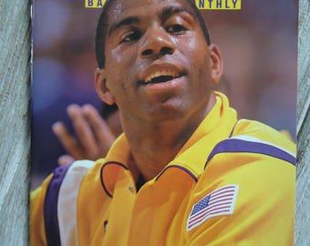 1991 Magic Johnson, Vintage magazines, LA Lakers gift, 1991, Magic Johnson gift, Magic Johnson, Magazine, Sports decor - Los Angeles Lakers