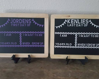 Reversible first and last day of school chalkboard