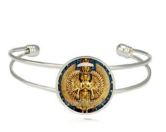 Avalokiteshvara Cuff Bangle Thousand armed Avalokiteshvara Cuff Bracelet Compassionate and merciful Bodhisattva Buddhism Jewelry