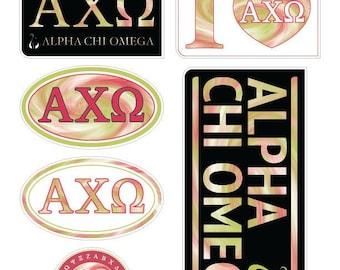 "ALPHA CHI OMEGA ""TieDye"" Sticker Sheet"