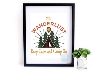 PRINTABLE Art Wanderlust Print Gift For Camper Adventure Awaits Wanderlust Quote Travel Wall Art Travel Quote Wanderlust Printable