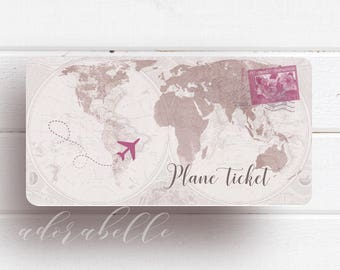 Travel wedding invitation templates | printable invitation plane ticket/ Plane ticket/ Boarding pass invitation